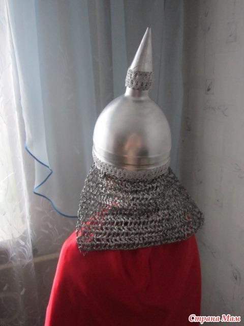 Шлем богатыря своими руками из