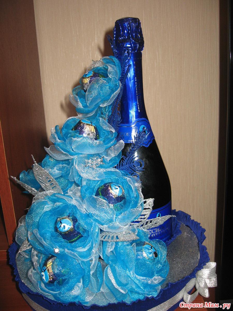 Поделки из гофрированной бумаги шампанское