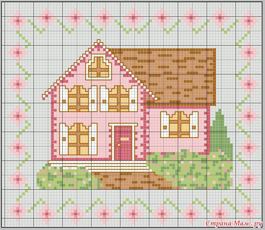 Дом для вышивки схема 33