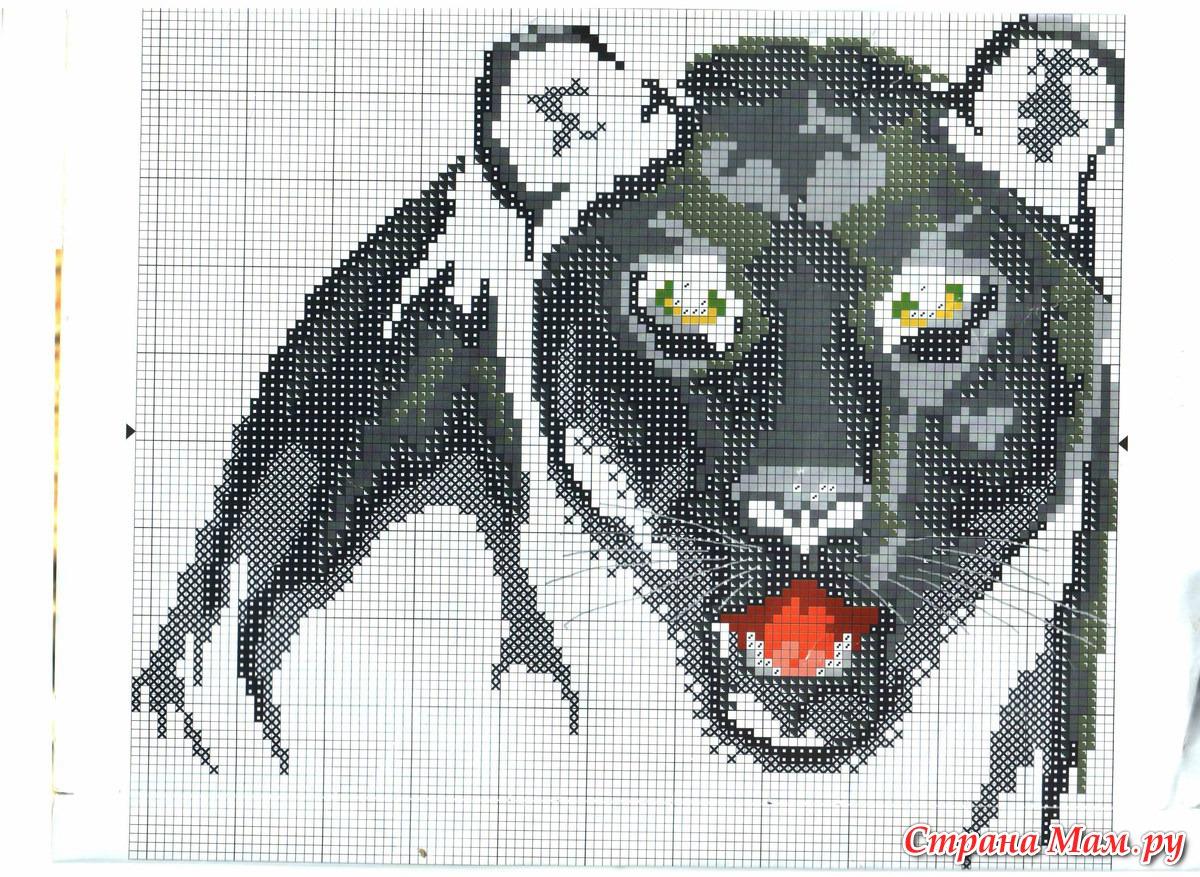 Вышивка крестом пантеры схема