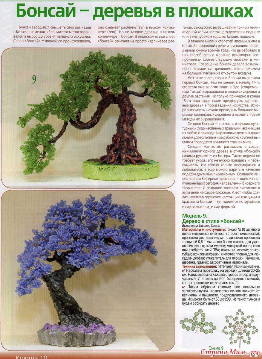 Схема для дерева и бисера