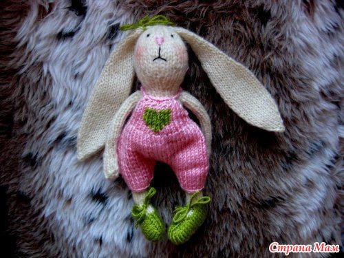 Вязаный заяц - Игрушки своими