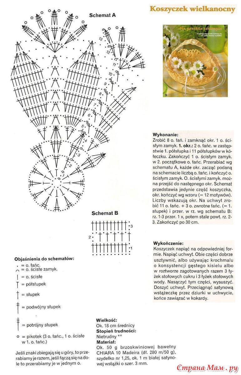 Вязание крючком для дома с схемами