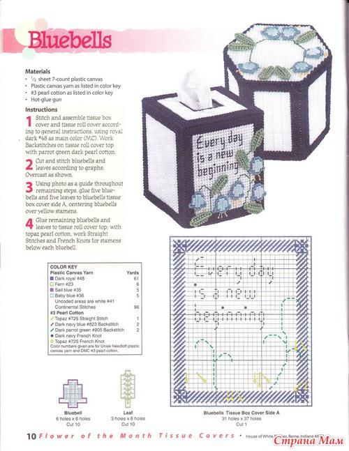 Вышивка шкатулок по пластиковой канве схемы 151