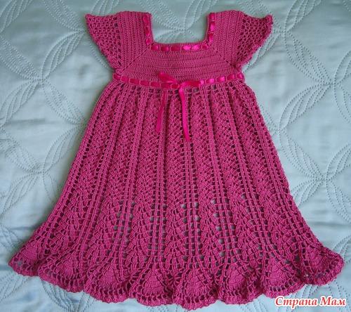 Вязание. Детские платья