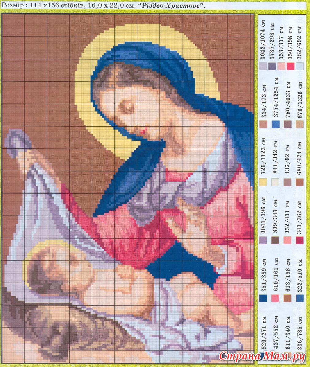 Схемы вышивки картин иконы