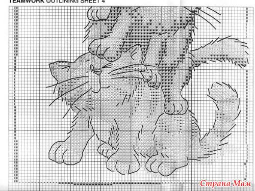 Вышивка гладью схема котик 51