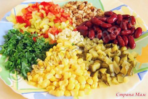 Рецепты салатов с подсолнечным маслом