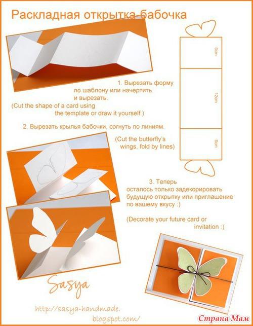 Как сделать открытку своими руками на день рождения с