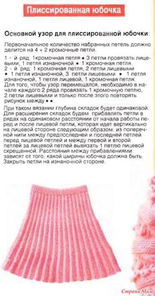 Плиссированные юбки вязание