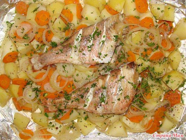 Морской окунь с картошкой в фольге рецепты
