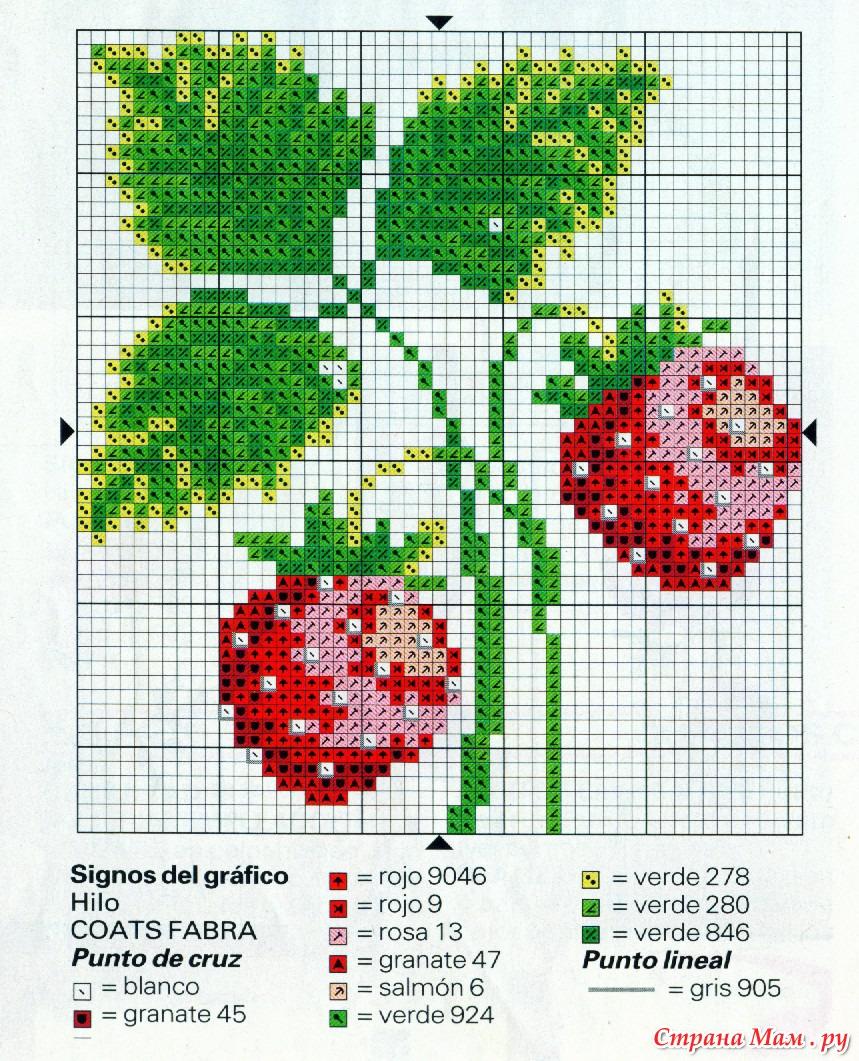 Вышивка крестом схемы фрукты и ягоды схемы 7