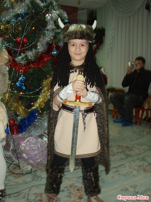 Детский костюм викинга своими руками 10