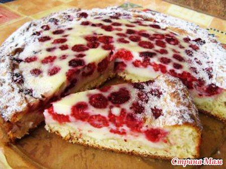 Торт с замороженной малиной