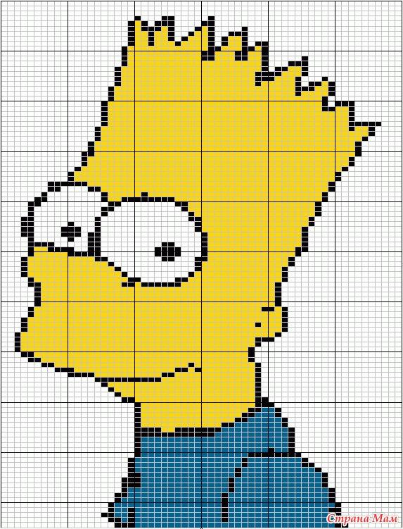 Схемы для вязания симпсонов