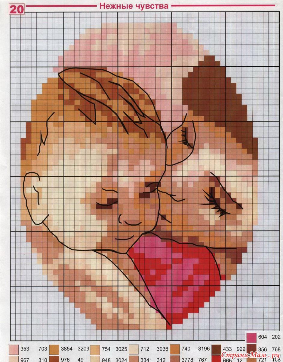 Схемы для вышивания крестом с младенцем
