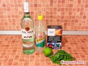 Алкогольный коктейль мохито в домашних условиях
