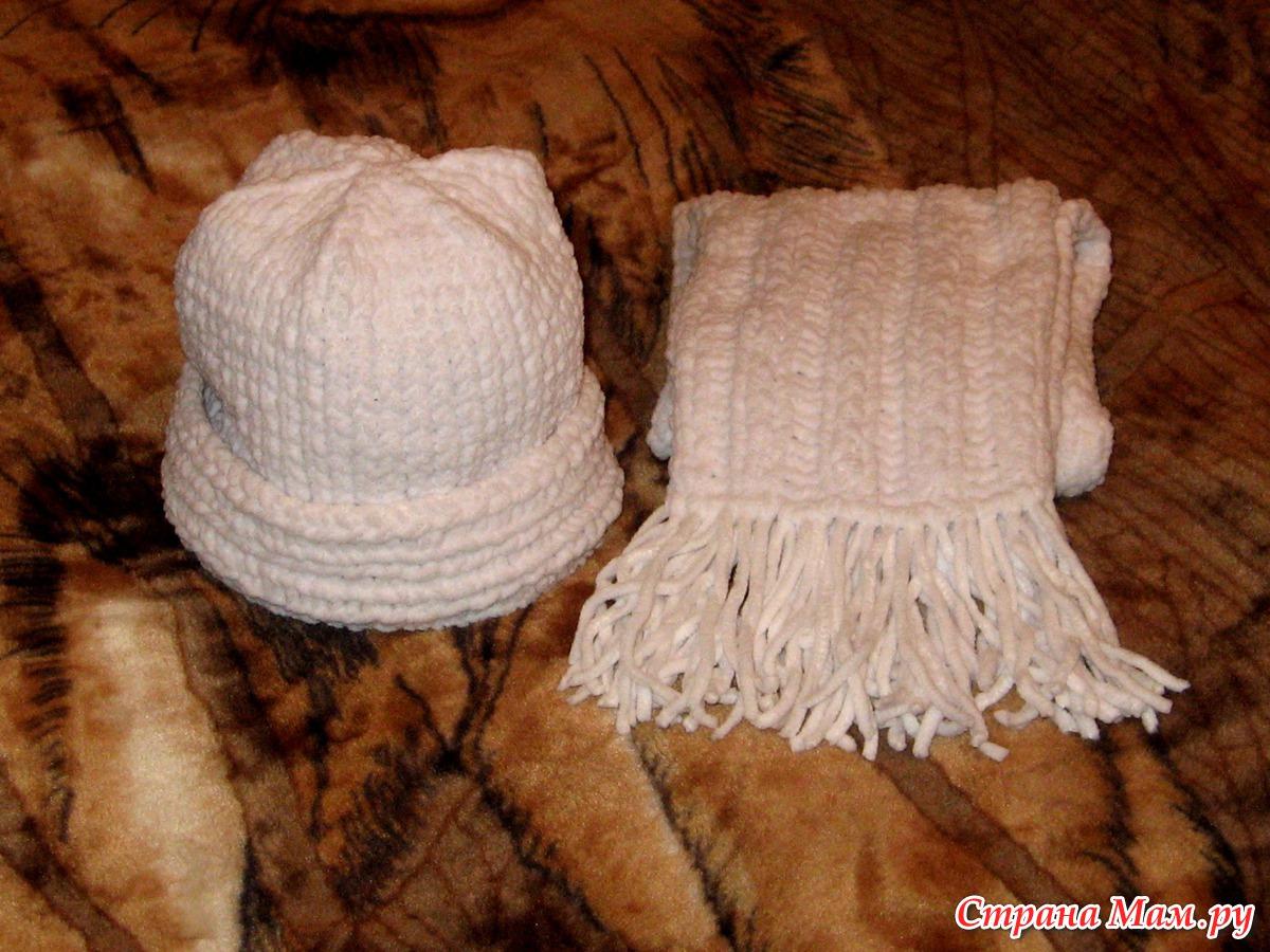 шапка из плюшевой пряжи для мальчика