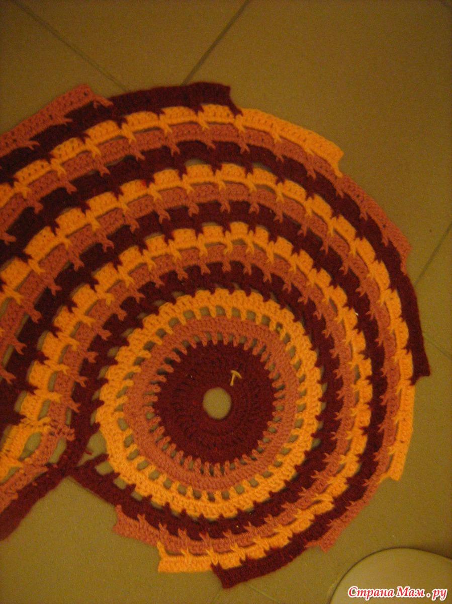 Вязание крючком ковриков в ванную фото