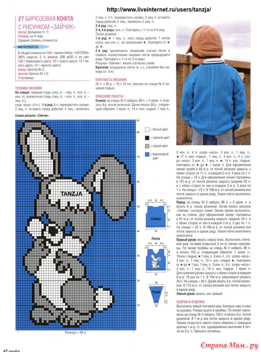 Узоры вязания спицами : видео, схемы, описание 39
