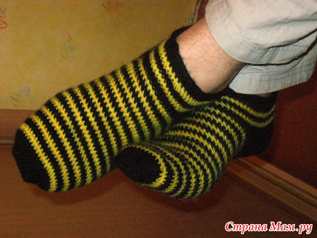 Связать носки за крючком