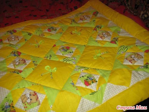 Одеяло детское пэчворк своими руками
