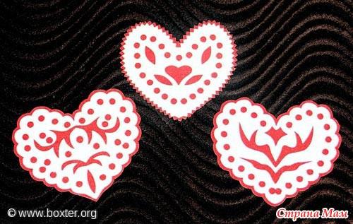 открытки сердечки: