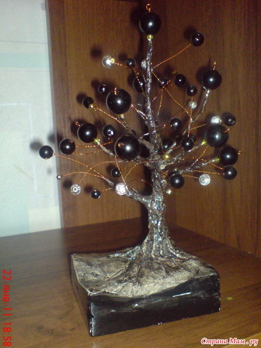 Как сделать из дерево из бусинок 24