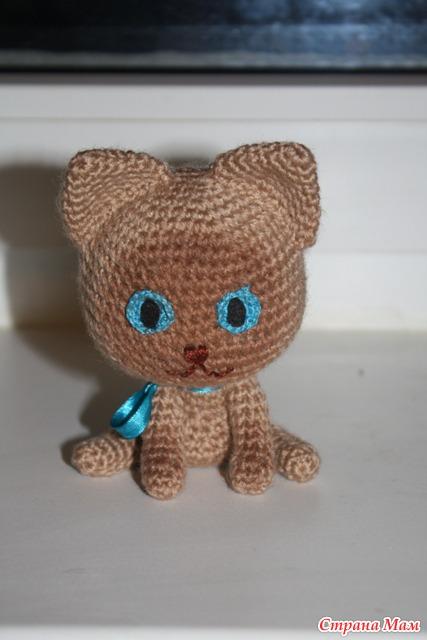 Вязание игрушка кот