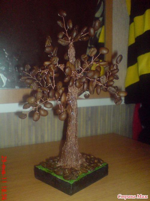 Кофейное дерево из зерен кофе