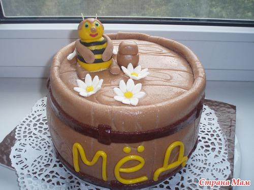Торт с добавлением меда фото