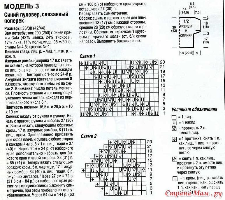 Вязанные топы спицами схема