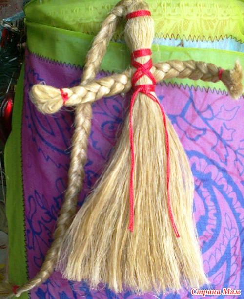 Как сделать куклу мотанку с ниток
