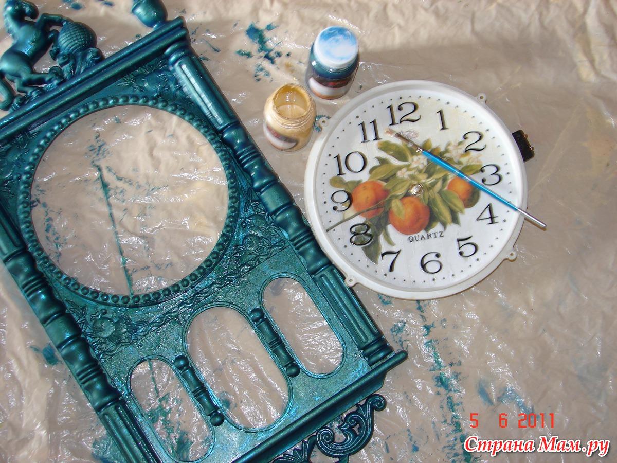 Оригинальные настенные часы своими руками Дизайн 12