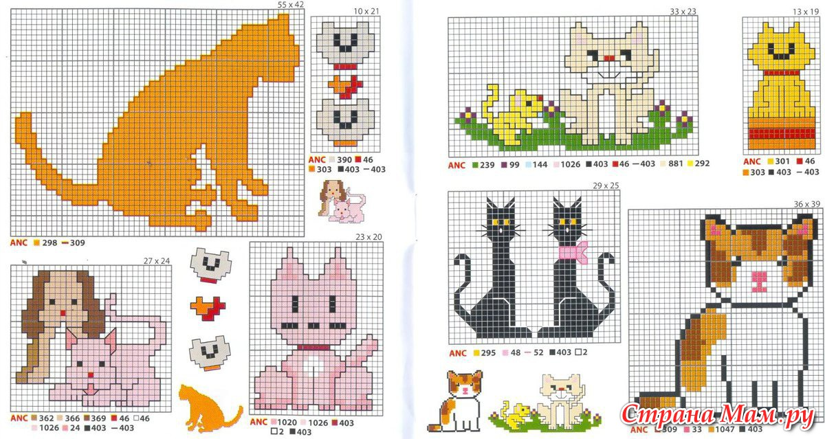 Картинки схемы котята