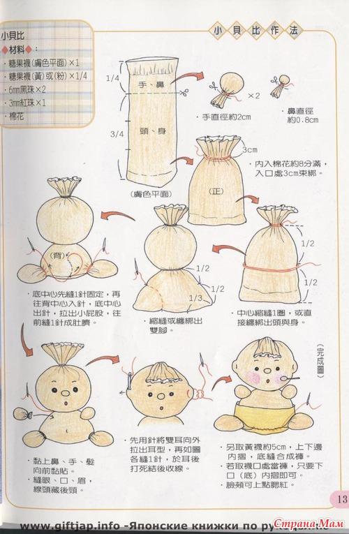 Куклы своими руками и схема из носка
