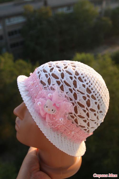 """Шляпка для доченьки """"Китти-неженка& quot;  :-)"""