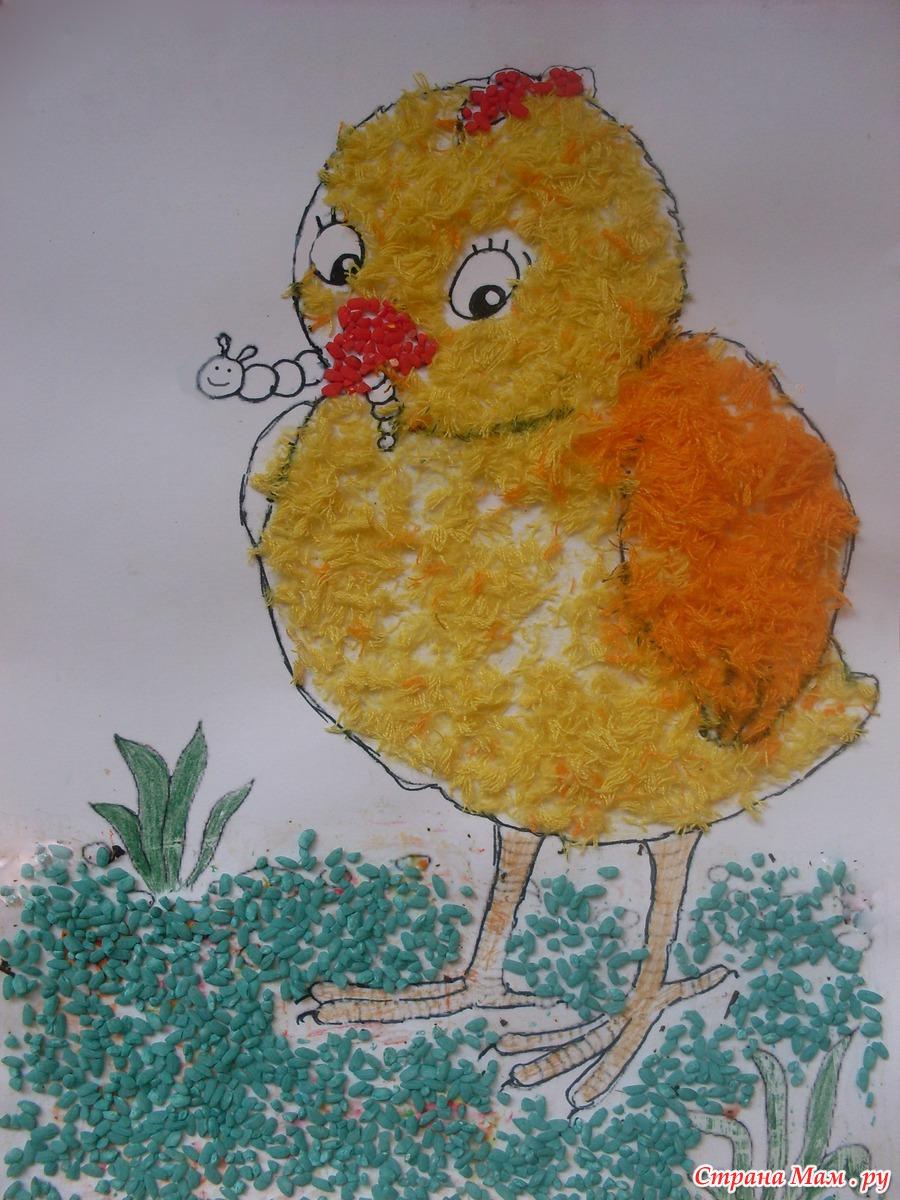 Поделка курицы из пшена
