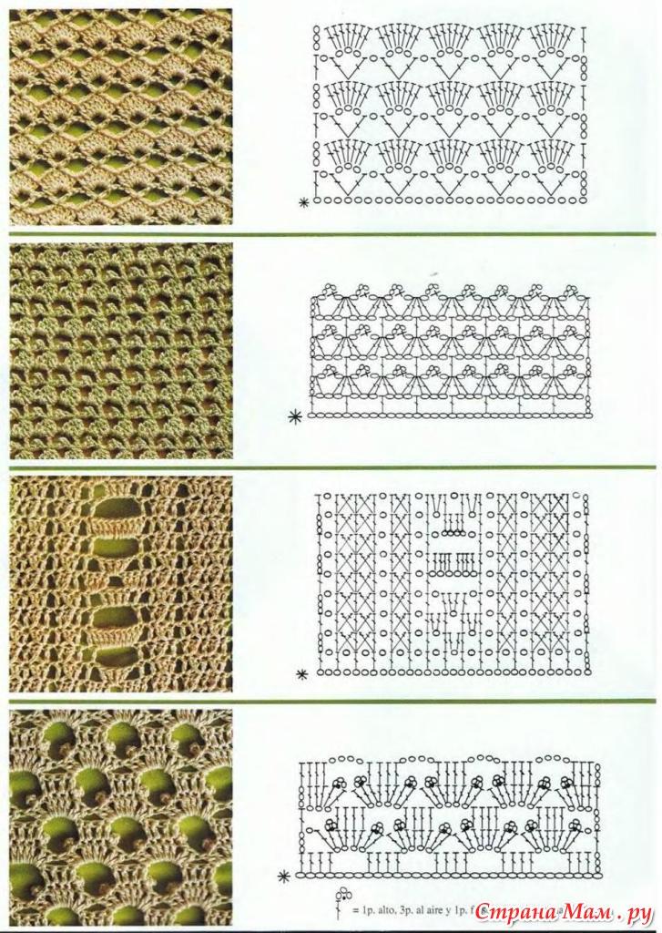 Схемы вязания крючком нарисовать 151