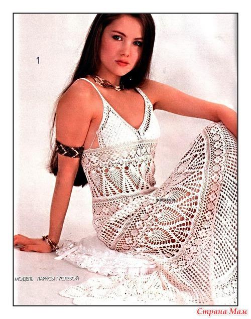 схемы вязание спицами платьев