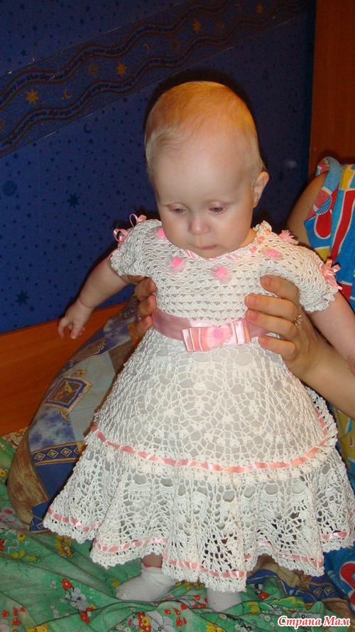 Детские платья крючком своими руками 25