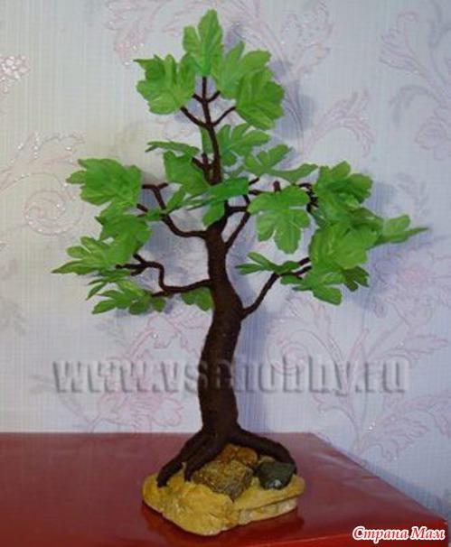 Сделать искусственное дерево своими руками