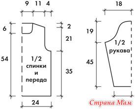 Выкройки для вязания женских кофт 579