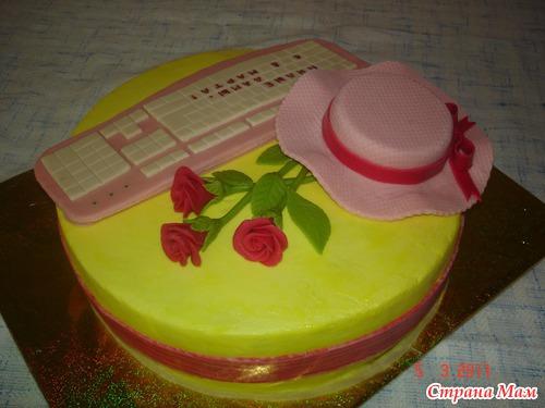 Торт на 8 марта из мастики фото