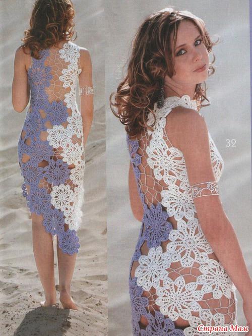 Пляжное платье крючком. - Вязание 51