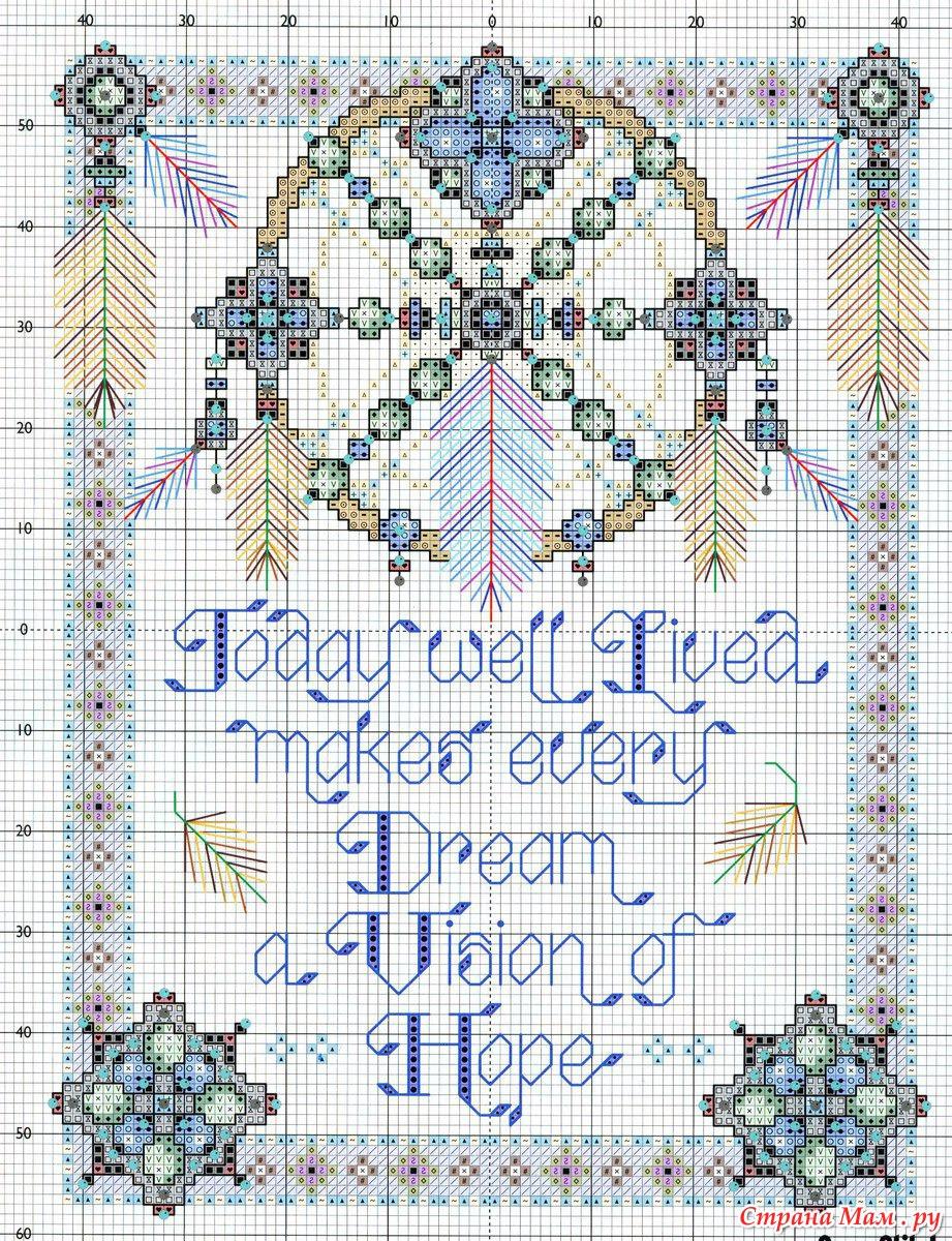 Схемы вышивки ловушка для снов