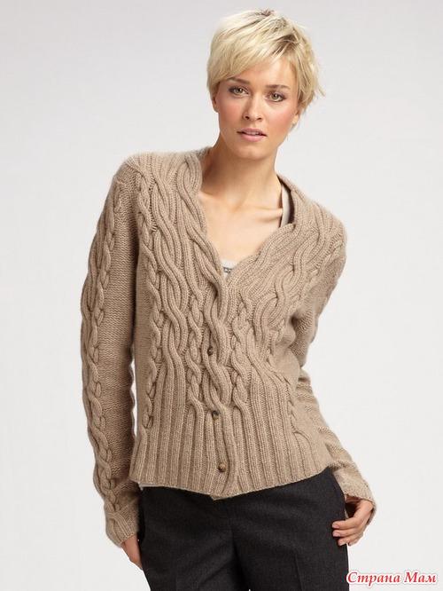 вязание жакеты для женщин кофты