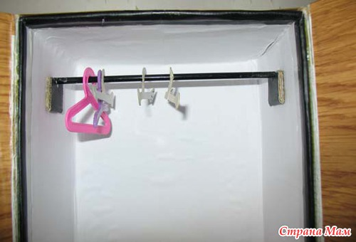 Как сделать кукле шкаф своими руками