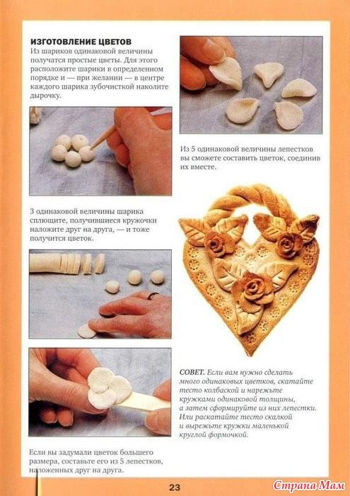 Пошаговый рецепт соленого теста