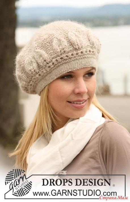 Женские вязаные шапки, шляпки,